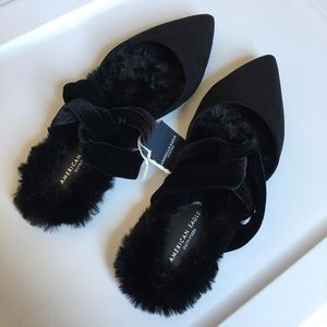American Eagle Pointed Flats Slides